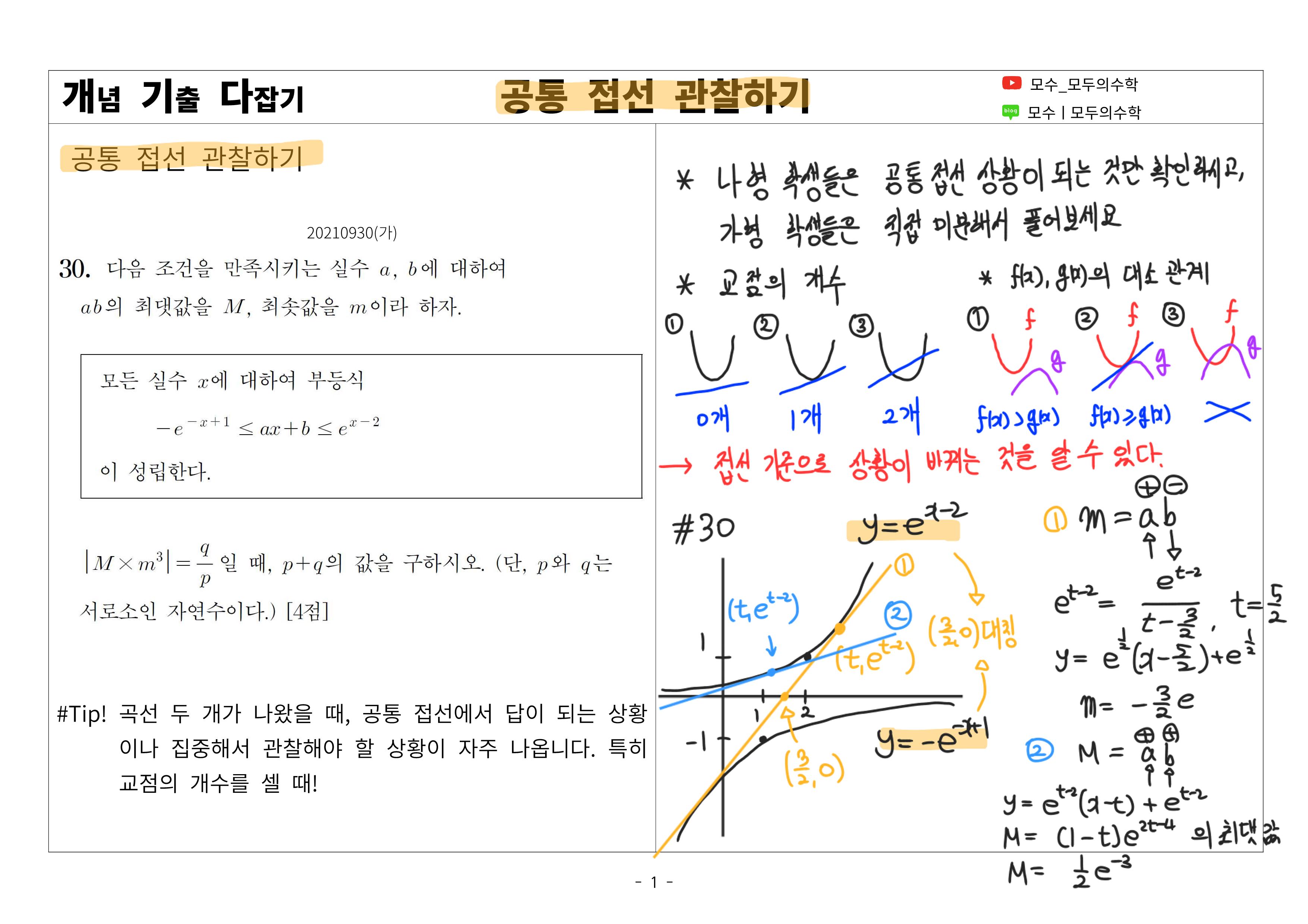 나라면 수능 전에 꼭 복습할 올해 수학 기출 총정리!(PDF 추가 ...
